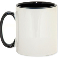 Ringer Mug Black 11oz ON SALE
