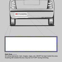 Bumper Sticker 200mm x 60mm Rectangle