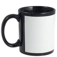 Black Mug with White Panel