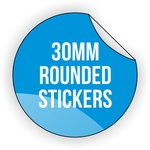 Round Vinyl Sticker 30mm x 30mm